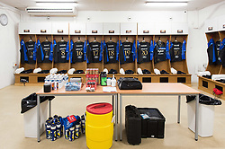 A general view of Bath Rugby jerseys hung up in the changing rooms prior to the match - Mandatory byline: Patrick Khachfe/JMP - 07966 386802 - 09/12/2017 - RUGBY UNION - Stade Mayol - Toulon, France - Toulon v Bath Rugby - European Rugby Champions Cup