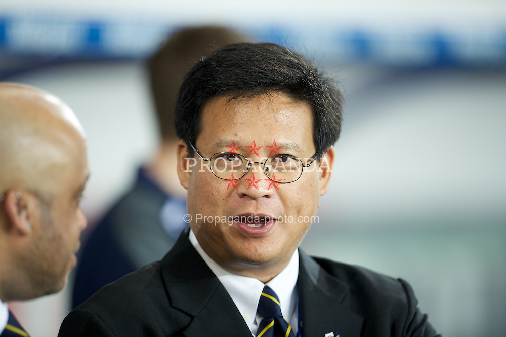 CARDIFF, WALES - Tuesday, January 24, 2012: Cardiff City's owner and Chairman Datuk Chan Tien Ghee during the Football League Cup Semi-Final 2nd Leg against Crystal Palace at the Cardiff City Stadium. (Pic by David Rawcliffe/Propaganda)