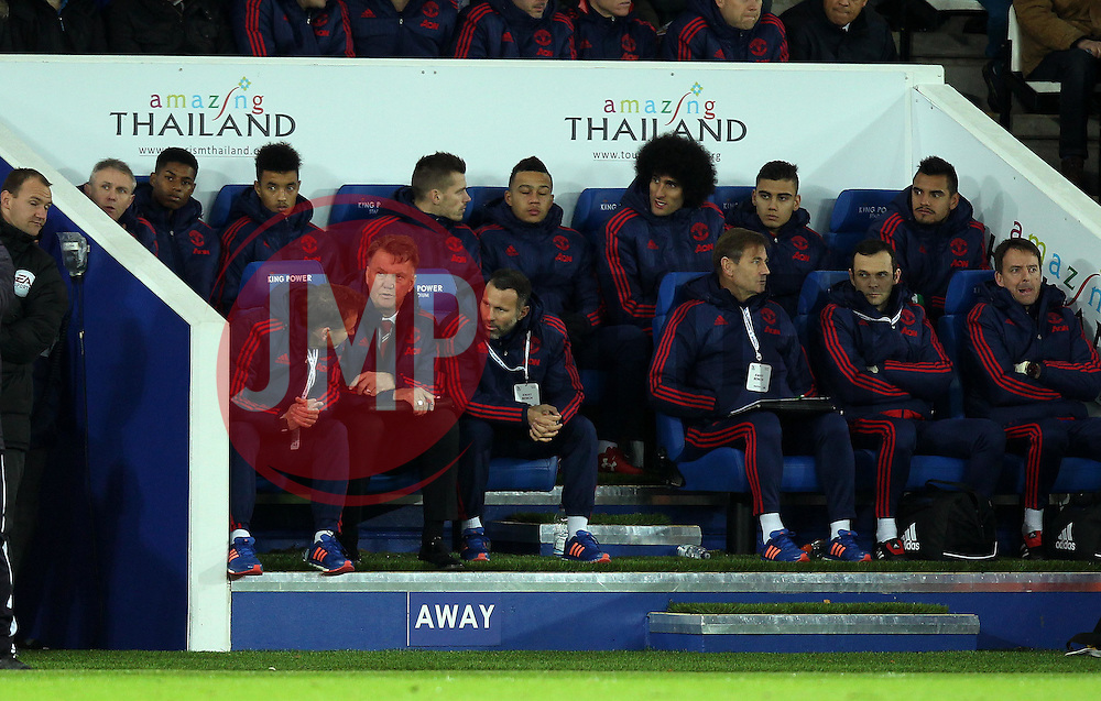 The Manchester United bench - Mandatory byline: Robbie Stephenson/JMP - 28/11/2015 - Football - King Power Stadium - Leicester, England - Leicester City v Manchester United - Barclays Premier League
