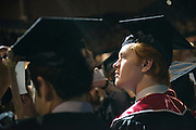 Ryan Bush at undegraduate commencement. Photo by Ben Siegel