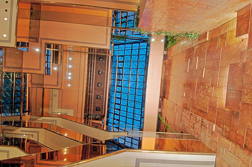 Atrium of  the Trump Tower, Manhattan, New York City, New York, USA, designed by Der Scutt