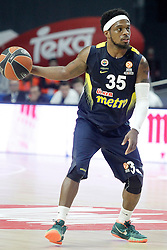 03.12.2015, Palacio de los Deportes, Madrid, ESP, FIBA, EL, Real Madrid vs Fenerbahce Ulker Istanbul, Halbfinale, im Bild Fenerbahce Istambul's Bobby Dixon // during thesemifinall Match of the Turkish Airlines Basketball Euroleague between Real Madrid and Fenerbahce Ulker Istanbul at the Palacio de los Deportes in Madrid, Spain on 2015/12/03. EXPA Pictures © 2015, PhotoCredit: EXPA/ Alterphotos/ Acero<br /> <br /> *****ATTENTION - OUT of ESP, SUI*****