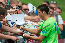 10.06.2012, Sportzentrum Remes, Opalenica, POL, UEFA EURO 2012, Portugal, Training, im Bild CRISTIANO RONALDO Fans, Autogramme // during EURO 2012 Trainingssession of Portugal Nationalteam, at the Sportcenter Remes, Opalenica, Poland on 2012/06/10. EXPA Pictures © 2012, PhotoCredit: EXPA/ Newspix/ Jakub Kaczmarczyk..***** ATTENTION - for AUT, SLO, CRO, SRB, SUI and SWE only *****