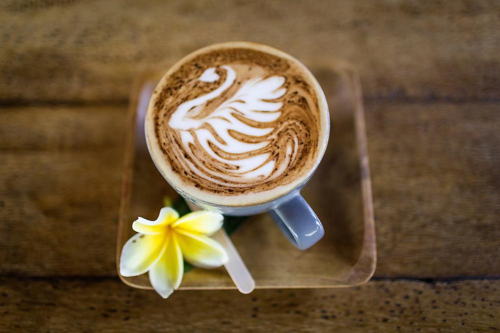 Cappucino at Betelnut Cafe.