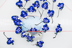 Team Slovenia during Ice Hockey match between Slovenia and Denmark at Day 11 in Group B of 2015 IIHF World Championship, on May 11, 2015 in CEZ Arena, Ostrava, Czech Republic. Photo by Vid Ponikvar / Sportida