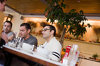 8 October, 2008. New York, NY. Customers chat and have breakfast at the Cookshop Restaurant & Bar in Chelsea, NY.<br /> <br /> ©2008 Gianni Cipriano for The New York Times<br /> cell. +1 646 465 2168 (USA)<br /> cell. +1 328 567 7923 (Italy)<br /> gianni@giannicipriano.com<br /> www.giannicipriano.com