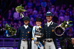 Werth Isabell, GER, Graves Laura, USA, Hester Carl, GBR<br /> Grand Prix Freestyle<br /> Longines FEI World Cup Dressage, Omaha 2017 <br /> © Hippo Foto - Stefan Lafrentz<br /> 01/04/2017