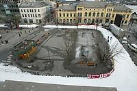 Drammen 10032003: Traseen tl World Cup sprinten i Drammen i morgen 11. mars. Bildene er tatt 10 mars rundt kl. 16.00.<br /> <br /> Foto: Andreas Fadum, Digitalsport