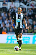 Isaac Hayden (#14) of Newcastle United on the ball during the Premier League match between Newcastle United and Watford at St. James's Park, Newcastle, England on 31 August 2019.