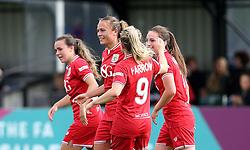 Bristol City Women celebrate Rosella Ayane's second goal against Oxford United Women - Mandatory by-line: Robbie Stephenson/JMP - 25/06/2016 - FOOTBALL - Stoke Gifford Stadium - Bristol, England - Bristol City Women v Oxford United Women - FA Women's Super League 2