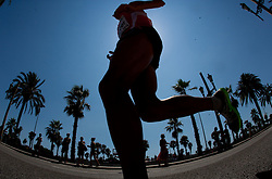 An athlete competes in the Mens Marathon during day six of the 20th European Athletics Championships at the roads of city Barcelona on August 1, 2010 in Barcelona, Spain. (Photo by Vid Ponikvar / Sportida)