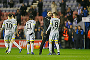 Derby County Manager Frank Lampard congratulates Derby County midfielder Mason Mount(8) at full time during the EFL Sky Bet Championship match between Wigan Athletic and Derby County at the DW Stadium, Wigan, England on 8 December 2018.