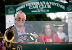 Peter Smith and his daughter Florence (14) from Donadea Co Kildare are pictured in their 1911 Renault AX at the Irish Veteran & Vintage Car Club's 34th Annual Powerscourt Estate Picnic Event. Pic Andres Poveda