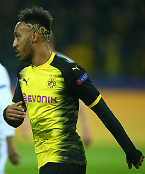 November 21, 2017 - Dortmund, Germany - Pierre-Emerick Aubameyang of Borussia Dortmund Hair Style during UEFA Champion  League Group H Borussia Dortmund between Tottenham Hotspur played at Westfalenstadion, Dortmund, Germany 21 Nov 2017  (Credit Image: © Kieran Galvin/NurPhoto via ZUMA Press)