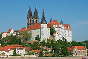 MEISSEN, GERMANY - MAY 22, 2010: View to the Albrechtsburg castle and Meissen cathedral in Meissen, Germany.