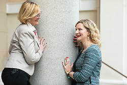 Portraits of Mojca Sojar and Tina Martinec Selan, on May 13, 2019, in Ljubljana, Slovenia. Photo by Vid Ponikvar / Sportida
