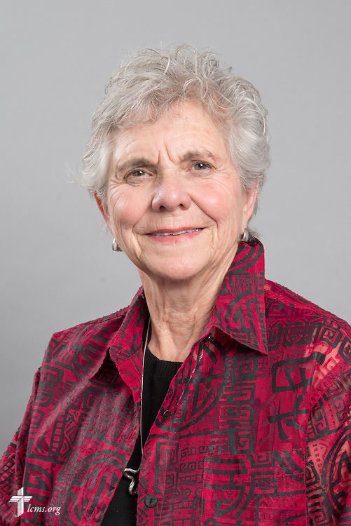 Headshot photograph of Lois Peacock on Friday, May 29, 2015, at the International Center of The Lutheran Church–Missouri Synod in Kirkwood, Mo. LCMS Communications/Frank Kohn