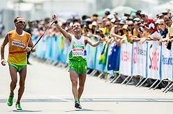 Blind Sandi Novak of Slovenia with guide Roman Kejzar celebrates at finish line of the Men's Marathon - T12 Final during Day 11 of the Rio 2016 Summer Paralympics Games on September 18, 2016 in Copacabana beach, Rio de Janeiro, Brazil. Photo by Vid Ponikvar / Sportida