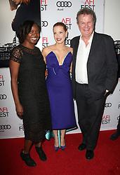 Jacqueline Lyanga, Jessica Chastain, John Madden bei der Premiere von Miss Sloane in Los Angeles<br /> <br /> / 111116<br /> <br /> <br /> ***Premiere von Miss Sloane in Los Angeles on november 11, 2016***
