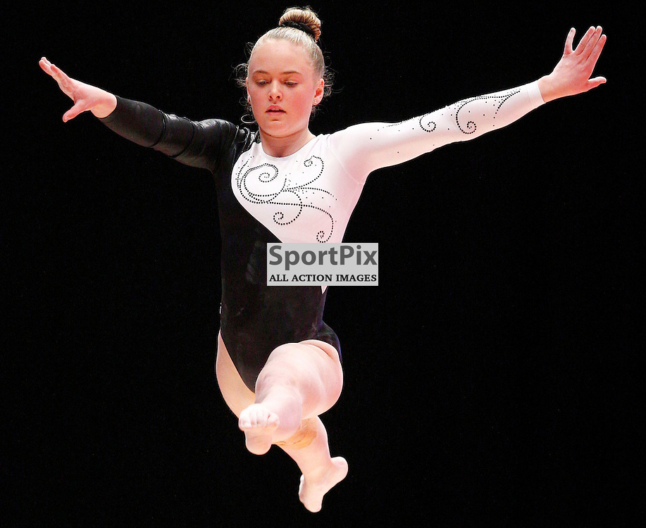2015 Artistic Gymnastics World Championships being held in Glasgow from 23rd October to 1st November 2015...Charlotte Sullivan (New Zealand) competing in the Balance Beam competition...(c) STEPHEN LAWSON | SportPix.org.uk