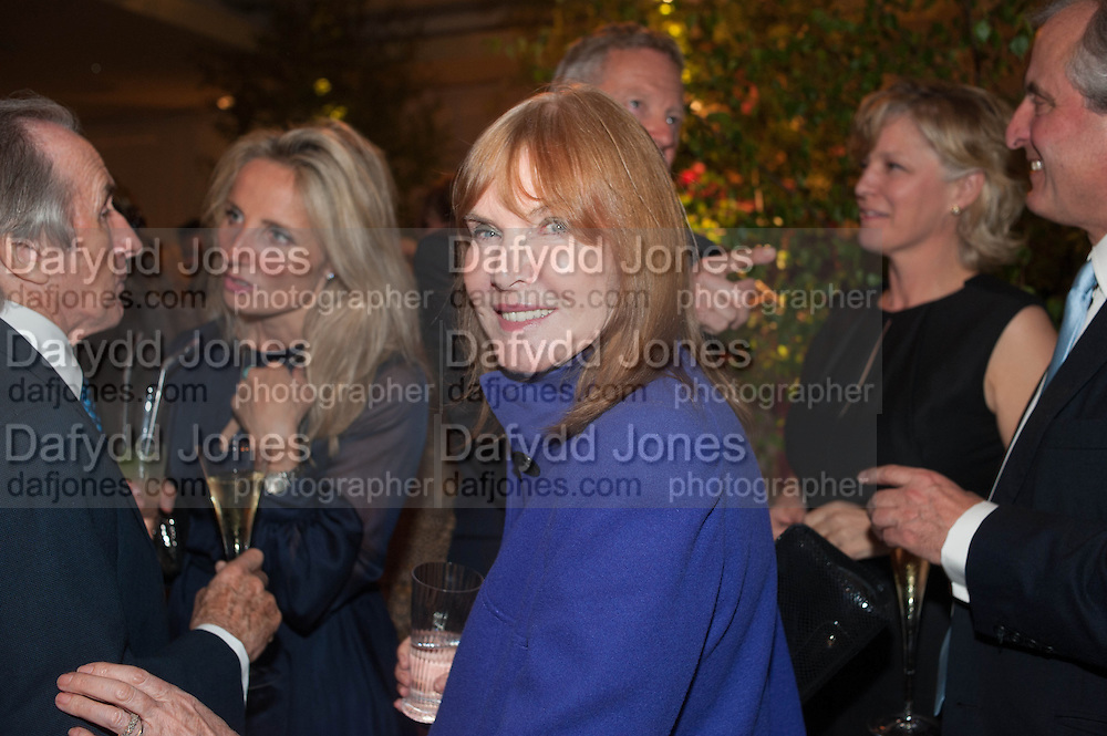 SIR JACKIE STEWART; LADY STEWART, The Cartier Chelsea Flower show dinner. Hurlingham club, London. 20 May 2013.