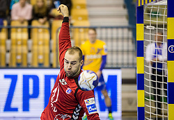 Urh Kastelic of Zagreb during handball match between RK Celje Pivovarna Lasko and RK Zagreb PPD in Round #13 of SEHA Gazprom League 2017/18, on February 4, 2018 in Arena Zlatorog, Celje, Slovenia. Photo by Vid Ponikvar / Sportida