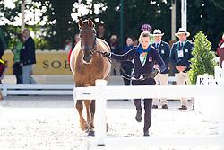 Caroline Hacki, (SUI), Rigoletto Royal CH - Horse Inspection Dressage - Alltech FEI World Equestrian Games™ 2014 - Normandy, France.<br /> © Hippo Foto Team - Leanjo de Koster<br /> 25/06/14