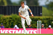 Tom Helm of Middlesex bowling during the Specsavers County Champ Div 2 match between Middlesex County Cricket Club and Glamorgan County Cricket Club at Radlett Cricket Ground, Radlett, Herfordshire,United Kingdom on 17 June 2019.