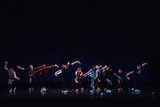 Santa Clara University Department of Theatre & Dance students perform during the dress rehearsal of the Choreographers' Gallery at Santa Clara University's Louis B. Mayer Theatre in Santa Clara, California, on December 4, 2013. (Stan Olszewski/SOSKIphoto)