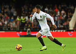 November 3, 2018 - Valencia, Valencia, Spain - Gonzalo Guedes of Valencia CF during the La Liga match between Valencia CF and Girona FC at Mestala Stadium on November 3, 2018 in Valencia, Spain (Credit Image: © AFP7 via ZUMA Wire)