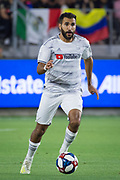 LAFC defender Steven Beitashour (3) in action during an MLS soccer match in which LAFC defeated the San Jose Earthquakes by a score of 4-0 on Wednesday, Aug. 21, 2019, in Los Angeles. (Ed Ruvalcaba/Image of Sport)