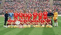 Fotball<br /> Bayern München<br /> Foto: Witters/Digitalsport<br /> NORWAY ONLY<br /> <br /> Team FC Bayern München  Deutscher Fussballmeister 1987<br /> h.v.l. Co-Trainer OLK, Jean-Marie PFAFF, Klaus AUGENTHALER, Hans PLÜGLER, Helmut WINKELHOFER, Norbert NACHTWEIH, Holger WILLMER, Lars LUNDE, Dieter HOENESS, Trainer Udo LATTEK, Raimond AUMANN<br /> v.l. Roland WOHLFAHRT, Lothar MATTHÄUS, Michael RUMMENIGGE, Andreas BREHME, Norbert EDER, Ludwig KÖGL, Hans-Dieter FLICK, Robert DEKEYSER