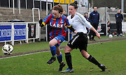 Jade Davenport charging forward for Palace during the FA Women's Premier League match between Crystal Palace LFC and Bedford Ladies at Bromley Football Club, Bromley, Kent, United Kingdom on 15 March 2015. Photo by Michael Hulf.