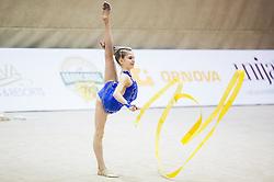 Veronika Cencen of Slovenia competes during 27th MTM - International tournament in rhythmic gymnastics Ljubljana, on April 19, 2014 in Arena Krim, Ljubljana, Slovenia. Photo by Vid Ponikvar / Sportida
