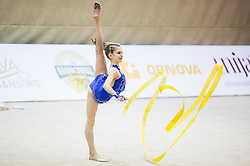 Veronika Cencen of Slovenia competes during 27th MTM - International tournament in rhythmic gymnastics Ljubljana, on April 19, 2014 in Arena Krim, Ljubljana, Slovenia. Photo by Vid Ponikvar / Sportida