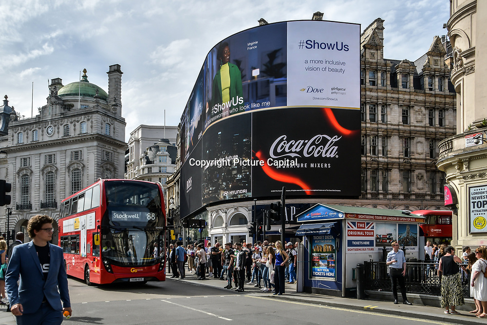 Photo taken at Piccadilly Circus on 1st June 2019, London, UK.