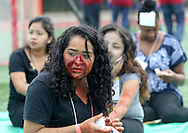 Mock victims wait for treatment during the annual Great California ShakeOut earthquake drill at Southern California University (USC) in Los Angeles on October 15, 2015. About 10.4 million Californian's registered to take part in the annual drill that asks participants to 'drop'' to the ground, take 'cover'' under a desk, table or other sturdy surface, and 'hold on'' for 60 seconds, as if a major earthquake were occurring.(Photo by Ringo Chiu/PHOTOFORMULA.com)