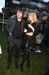 JAMES BLUNT and VIOLET VON WESTENHOLTZ at the 2007 Hennessy Gold Cup held at Newbury racecourse, Berkshire on 1st December 2007.<br />