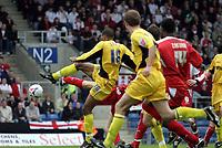 Photo: Rich Eaton.<br /> <br /> Oxford United v Leyton Orient. Coca Cola League 2. 06/05/2006.<br /> <br /> Eric Sabin 18 scores Oxfords first goal