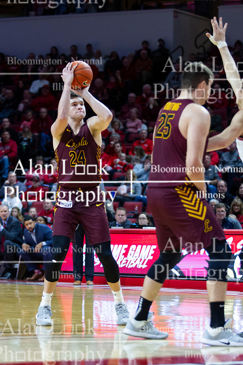 NORMAL, IL - January 19: Tate Hall during a college basketball game between the ISU Redbirds and the Loyola University Chicago Ramblers on January 19 2020 at Redbird Arena in Normal, IL. (Photo by Alan Look)