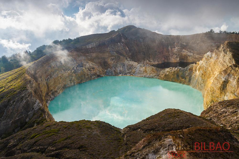 Kelimutu volcano. Kelimutu National Park. Flores island.  Indonesia.