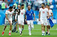 Mehdi Torabi (Iran) Pejamn Montazeri (Iran) Ashkan Dejagah (Iran) Mohammad Reza Khanzadeh (Iran) celebration<br /> Saint Petersburg 15-06-2018 Football FIFA World Cup Russia  2018 <br /> Morocco - Iran / Marocco - Iran <br /> Foto Matteo Ciambelli/Insidefoto
