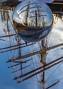 Crystal ball, Tall Sailing ship, Elissa, built in 1877, Galveston Historical Foundation, Galveston, Texas.