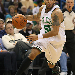 Feb 10, 2010; New Orleans, LA, USA; Boston Celtics guard Eddie House (50) drives in against the New Orleans Hornets during the first half at the New Orleans Arena. Mandatory Credit: Derick E. Hingle-US PRESSWIRE