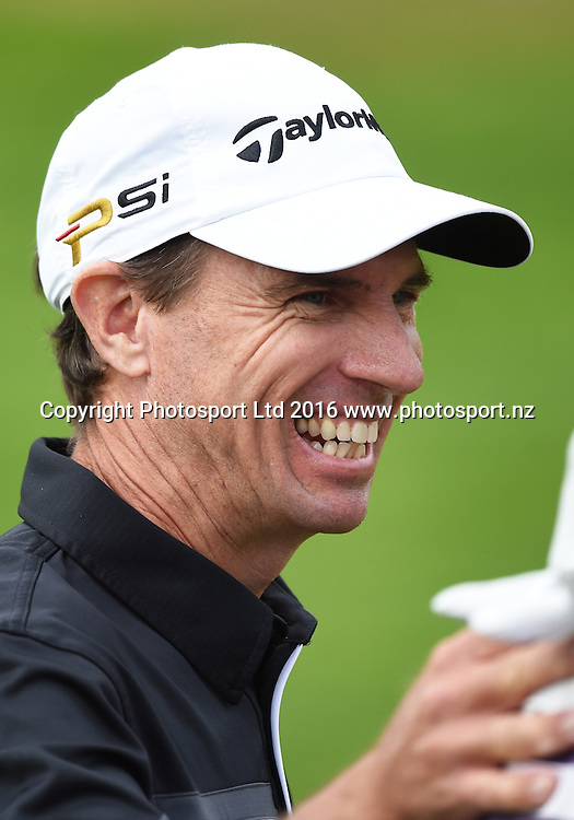 New Zealand's Steven Alker during Round 3 at The Hills during 2016 BMW ISPS Handa New Zealand Open. Saturday 12 March 2016. Arrowtown, New Zealand. Copyright photo: Andrew Cornaga / www.photosport.nz