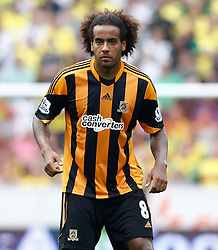 Hull City's Tom Huddlestone  - Photo mandatory by-line: Matt Bunn/JMP - Tel: Mobile: 07966 386802 24/08/2013 - SPORT - FOOTBALL - KC Stadium - Hull -  Hull City V Norwich City - Barclays Premier League