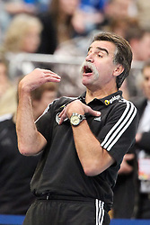 08.12.2010,  Lanxess Arena, Koeln, GER, LS, Deutschland (GER) vs Polen (POL), FSP, im Bild: Heiner Brand (Trainer Deutschland)   EXPA Pictures © 2010, PhotoCredit: EXPA/ nph/  Mueller       ****** out ouf GER ******