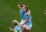 Manchester City Women's forward Georgia Stanway (10) celebrates her goal during the FA Women's Super League match between Manchester City Women and West Ham United Women at the Sport City Academy Stadium, Manchester, United Kingdom on 17 November 2019.