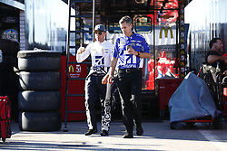 September 23, 2017 - Loudon, New Hampshire, United States of America - September 23, 2017 - Loudon, New Hampshire, USA: Jamie McMurray (1) hangs out in the garage during practice for the ISM Connect 300 at New Hampshire Motor Speedway in Loudon, New Hampshire. (Credit Image: © Justin R. Noe Asp Inc/ASP via ZUMA Wire)