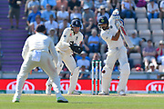 Virat Kohli (captain) of India batting during the 4th day of the 4th SpecSavers International Test Match 2018 match between England and India at the Ageas Bowl, Southampton, United Kingdom on 2 September 2018.